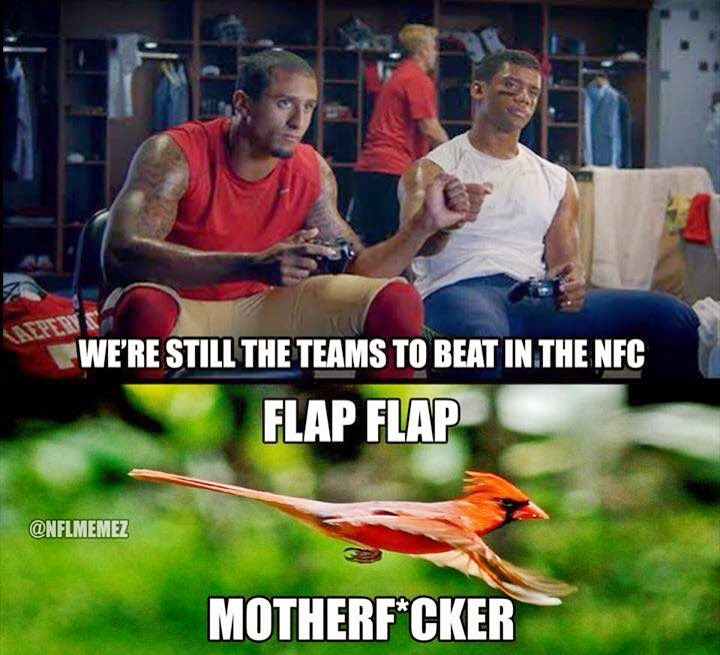 we're still the teams to beat in the nfc. flap flap motherfucker