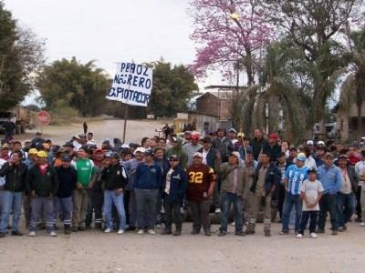 Marcha en solidaridad con los trabajadores del ingenio El Tabacal