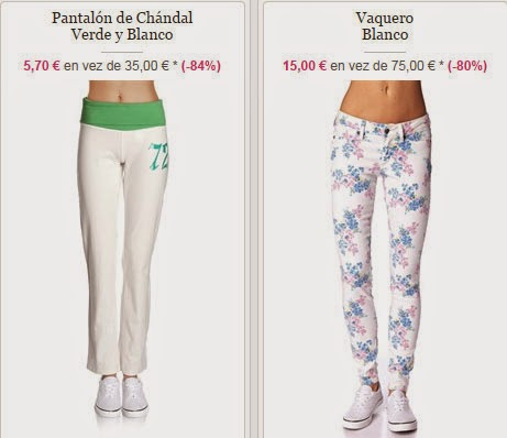 Detalle de varios de los pantalones disponibles dentro de la venta Ecko Unltd