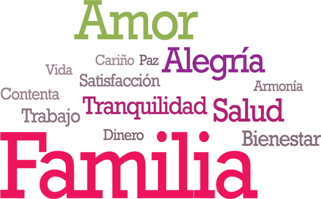 felicidad paz familia:
