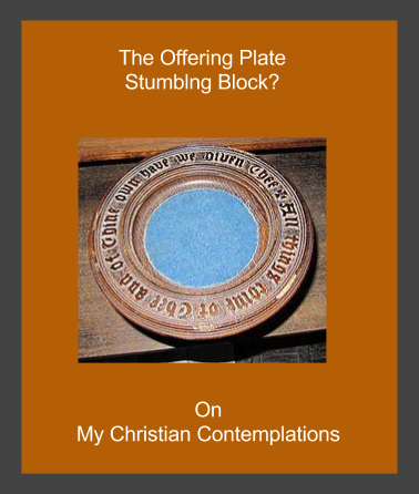 Empty offering plate representing the stumbling block tithing can create for some people