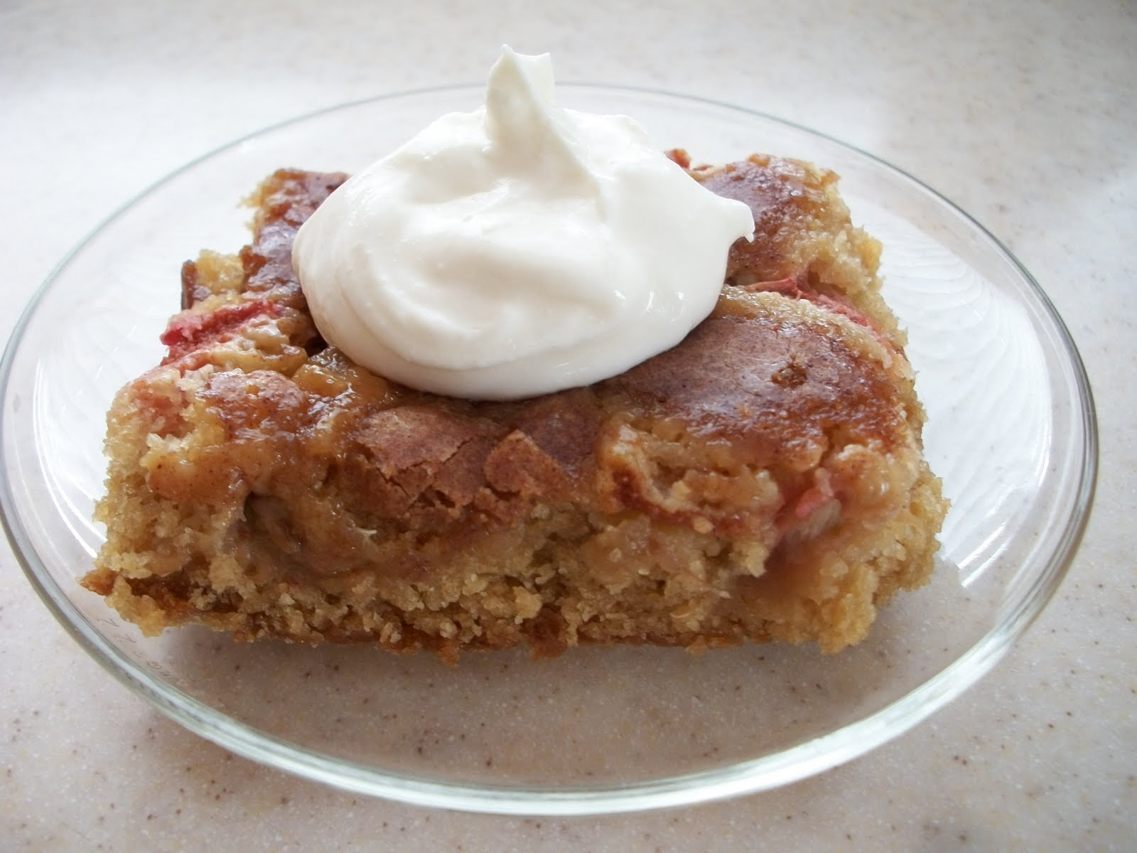 Simple and Savy: Rhubarb Snack Cake