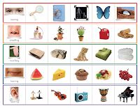 Senses matching cards and control sheet