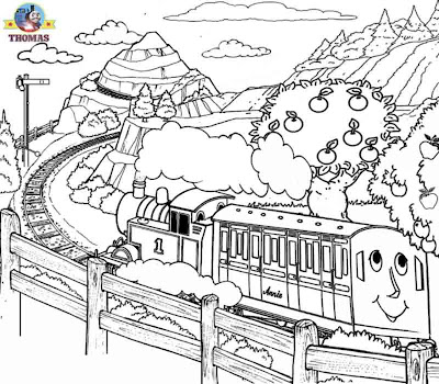Annie and Clarabel Thomas the tank engine free coloring pages for boys cartoon childrens worksheets