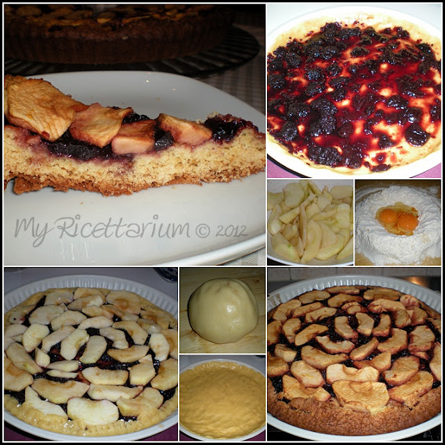 Crostata con mele e marmellata