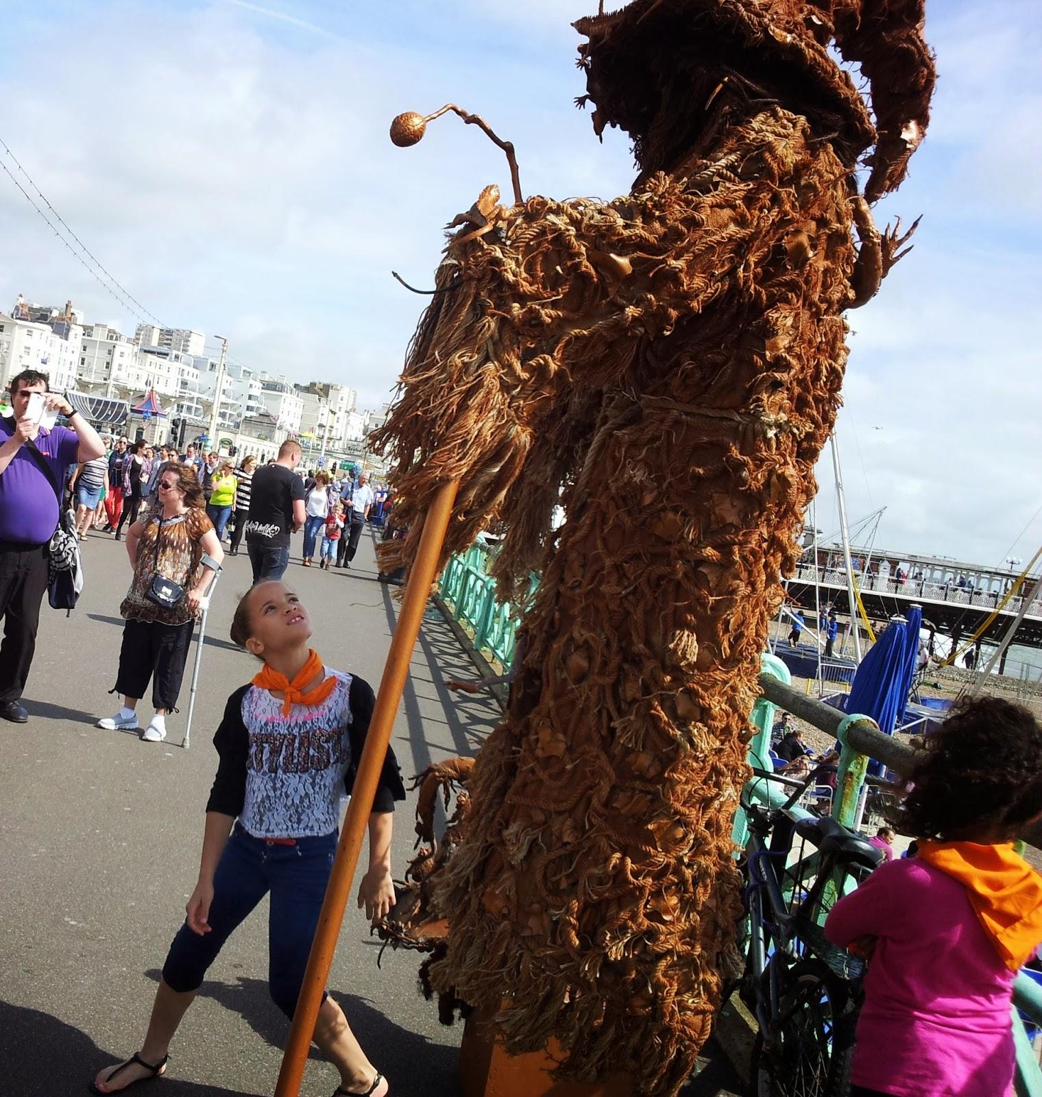 Am Pier in Brighton, Urlaub wie er sich gehört