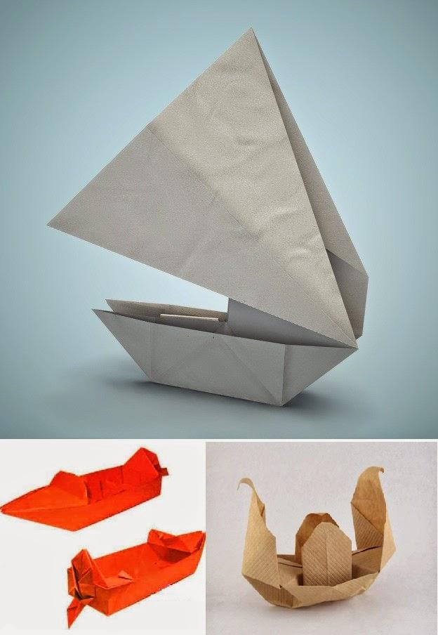 origami boat for kids