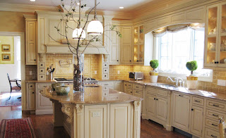 Tuscan Kitchen Ideas with White Cabinet