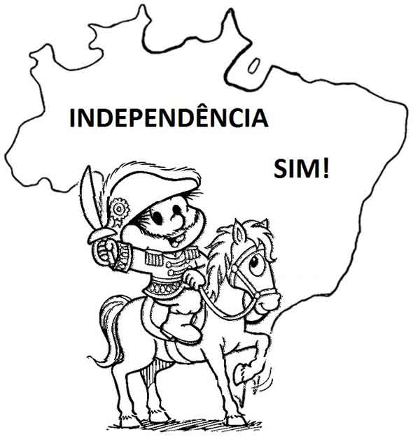Atividades e desenhos 7 de setembro portal escola - imagens para colorir sobre a independencia do brasil