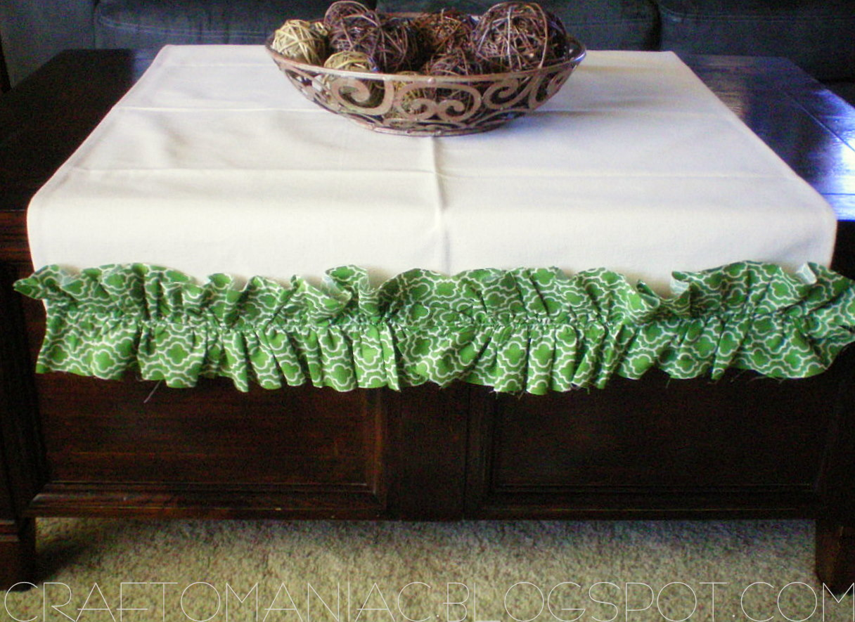 Home Decor Ruffled Canvas Coffee Table Runner Craft O Maniac