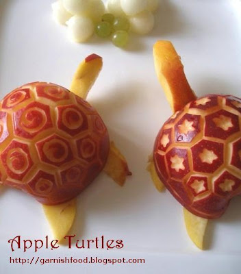 how to make turtle of apple
