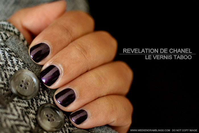 Revelation de Chanel Spring Summer 2013 Makeup Collection - Le Vernis Nail Polish Taboo 583 Indian Beauty Blog Darker Skin Review Photos Swatches NOTD