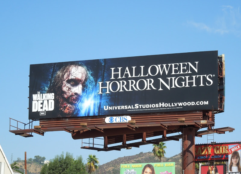 Universal Studios Halloween Horror Nights Walking Dead billboard