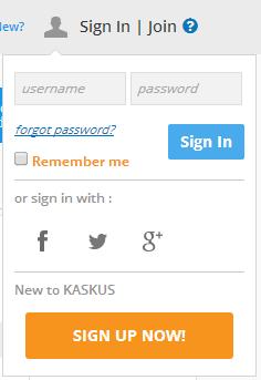 Cara Sign-Up di Situs Kaskus Evolution 2014