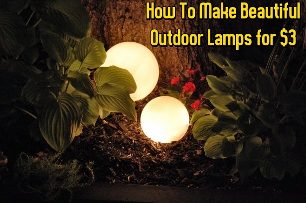 DIY Beautiful Outdoor Lamps for $3