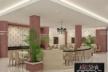 Desain interior coffe shop lobby hotel
