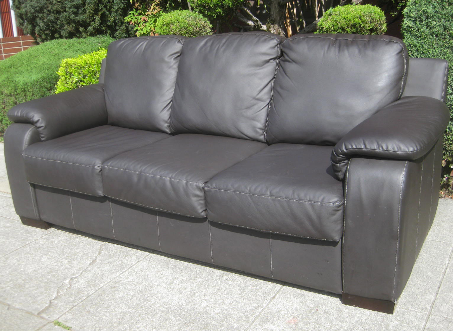 benson pleather op sofa wid stationary hei sharpen furniture lane couch
