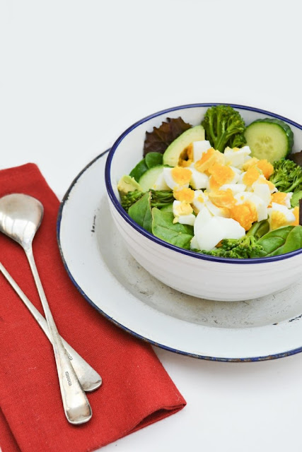 Chopped Egg, Avocado & Tenderstem Broccoli Salad