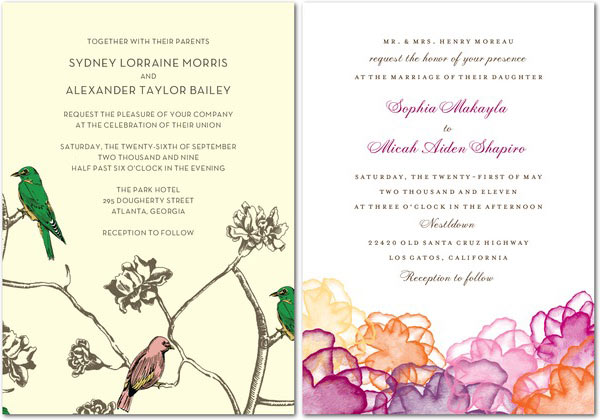 Wedding By Designs wedding invitations at Wedding Paper Divas
