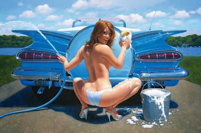Cuadros Mujeres Carros Pintura Al Oleo