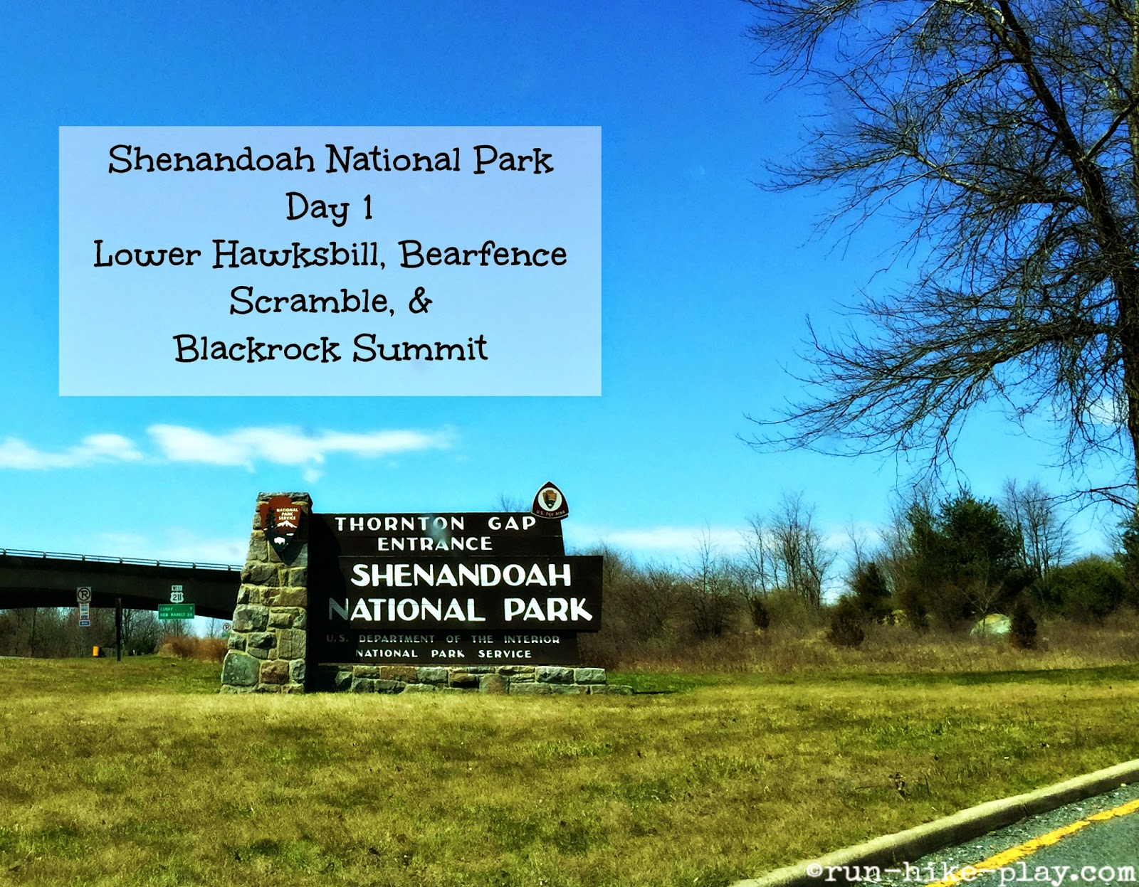 Shenandoah National Park Thornton Gap Entrance