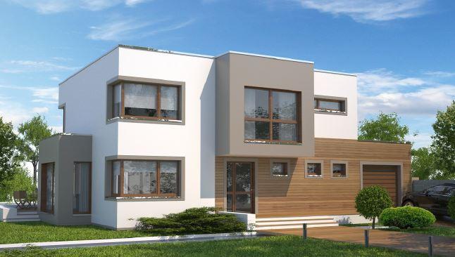 Casa moderna for Modelos de casas minimalistas de dos plantas