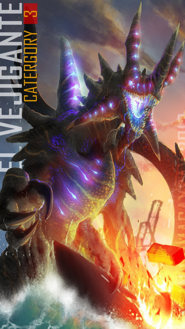 IPhone 5 Wallpaper Of Pacific Rim Kaiju Category 3 Called El Vejigante