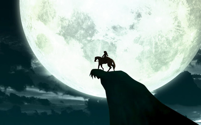 link epona moon light night sky the legend of zelda horse