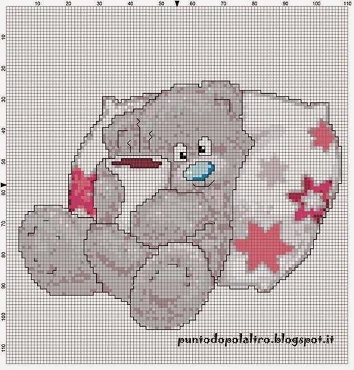 Un punto dopo l 39 altro schema free punto croce for Schema punto croce orsetto