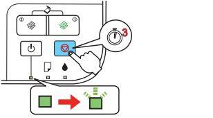 Держите нажатой кнопку Cancel Reset в течение 3 сек