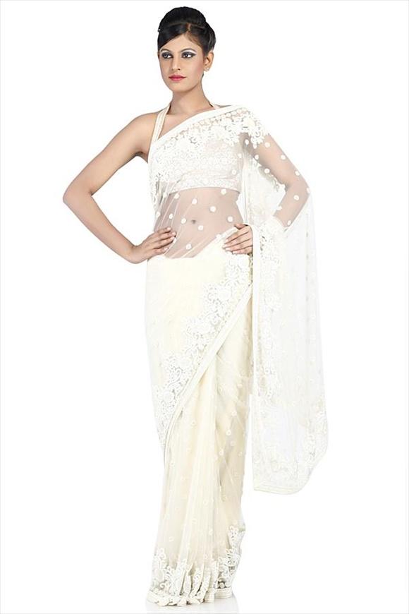 Pearl Net Saree
