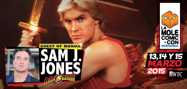 Sam J. Jones, Flash Gordon en La Mole Comic Con 13, 14 y 15 de marzo WTC ¡No falten!