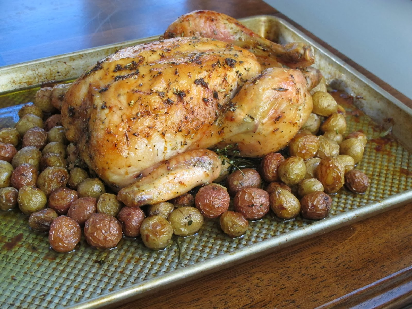 Fauxtisserie Chicken and Potatoes