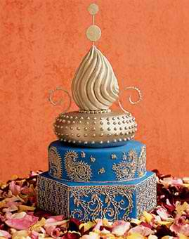 Blue And Gold Are Great But Not Necessarily Evocative Of An India Themed Wedding