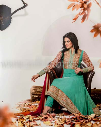 Zobi Fabrics Latest Party Wear Outfits Collection 2013 For girls Women 12 - Zobi Fabrics Latest Party Wear Outfits