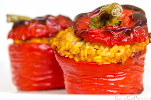 Pimientos rellenos de arroz - receta paso a paso