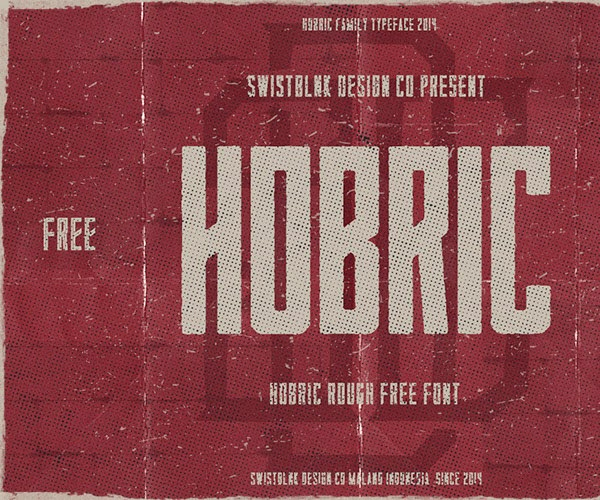 Hobric Rough free font