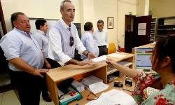 Alcaldes del PSOE, junto a Santín, solicitaron una reunión con el ministro de Justicia. ALBERTO LÓPEZ