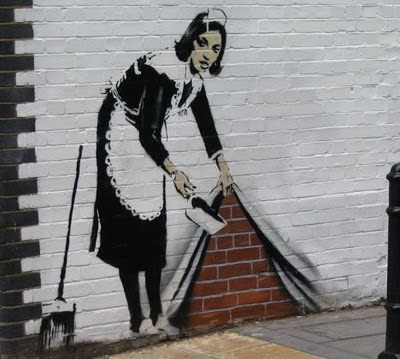 Banksy Graffiti Art Galleries Female Cleanliness