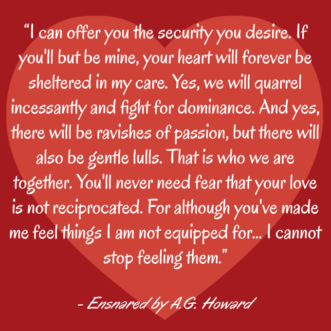 Ensnared by A.G. Howard quote Journey Through Fiction