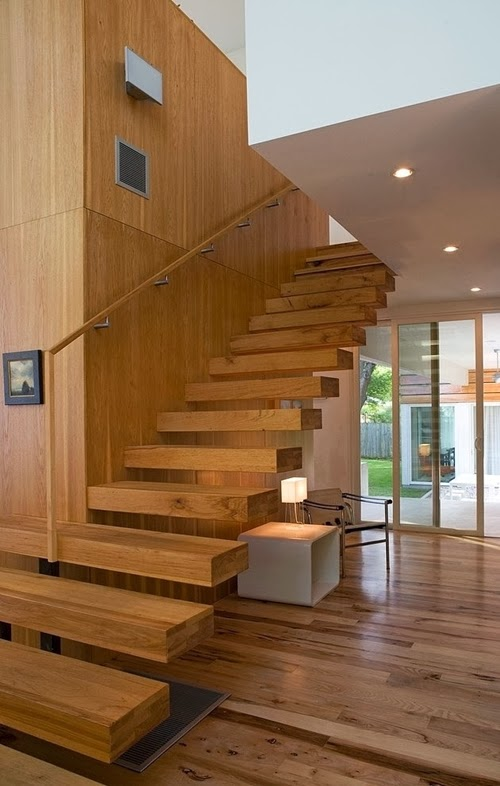 World of architecture 30 wooden types of stairs for Types of modern houses