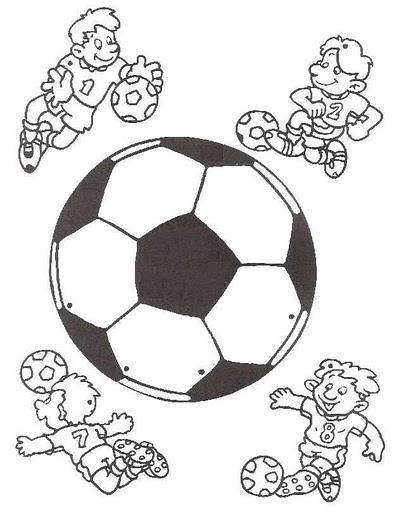 Manualidades para niños: Móvil de fútbol para colorear