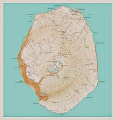 Carte de l'île d'Amsterdam