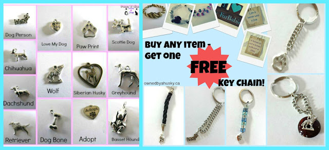 dog and cat pendants and a FREE key chain deal!