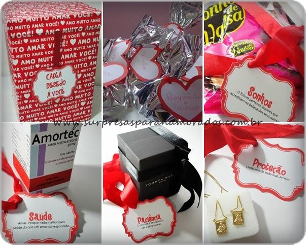 caixa desejo a você presente para namorado