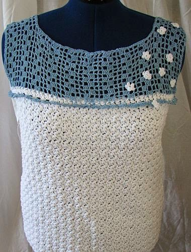 Free Crochet Patterns For Mesh Tops : Donnas Crochet Designs Blog of Free Patterns: White Top ...