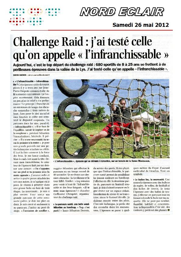 challenge raid vallee de la lys dans la presse les 26 27 et 28 mai. Black Bedroom Furniture Sets. Home Design Ideas
