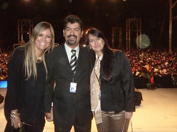Jane Cassia e esposo, Pref. Dr Gilberto Dorneles e Marta Lança