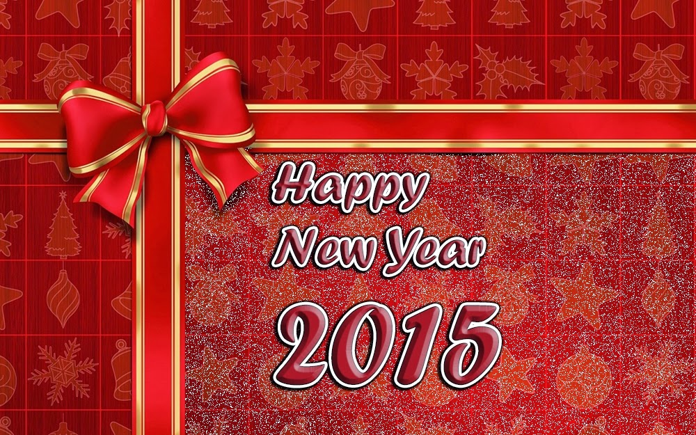 Happy New Year Wishes Cards 2015 Christmas Ornaments Images