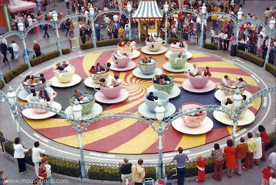 Teacups Skyway Mad Tea Party original teacups 1970's Disneyland